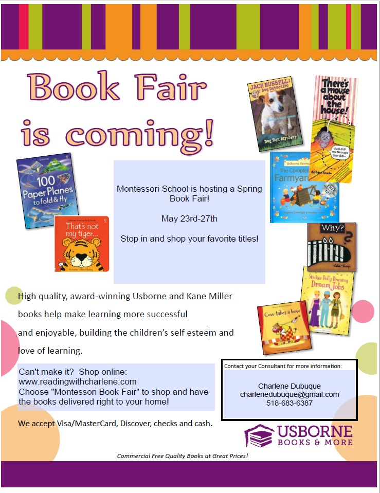 Montessori Spring 2016 Book Fair
